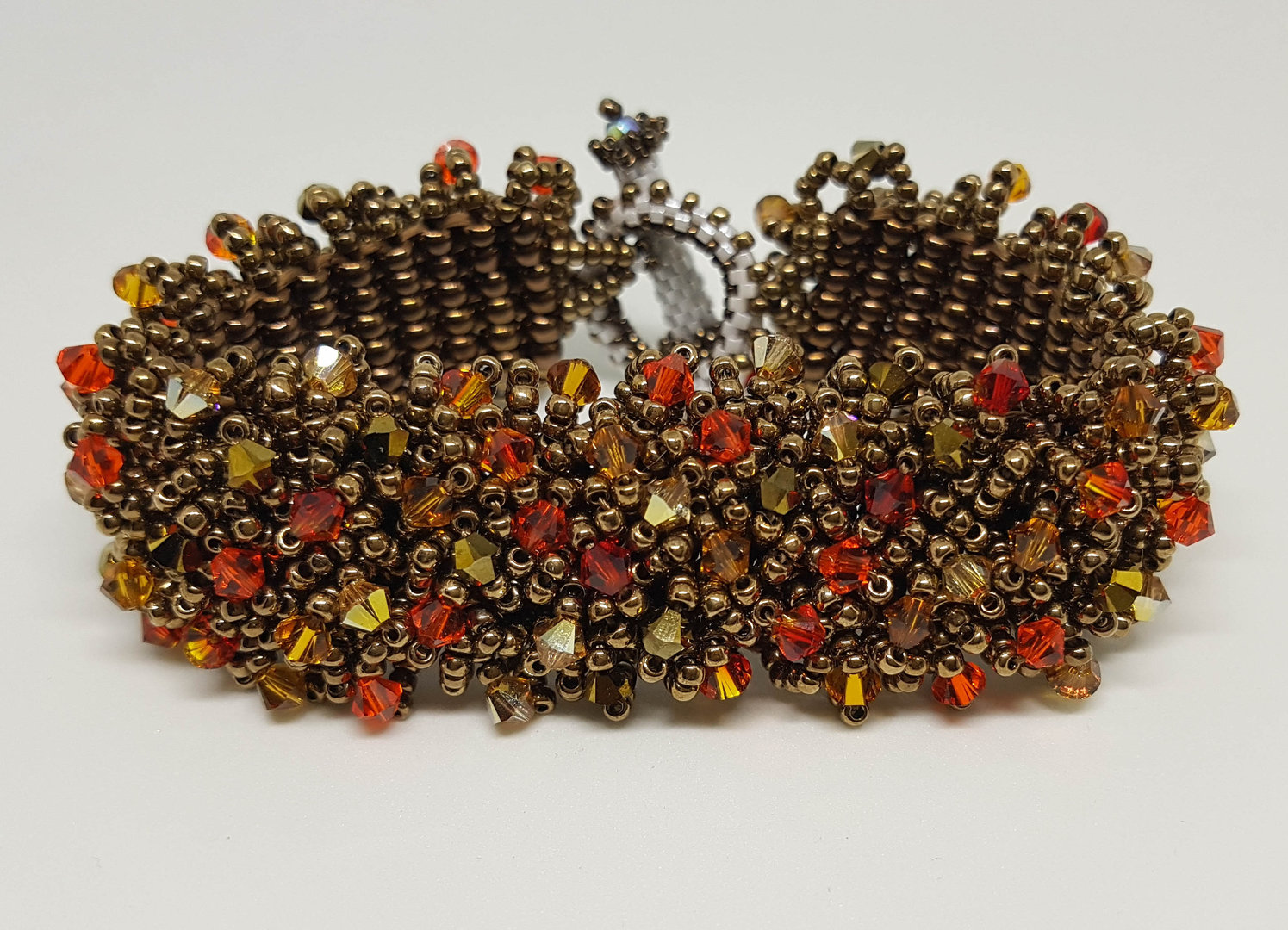 "Armband ""Magic Carpet Bronze"" mit Swarovski Beads"